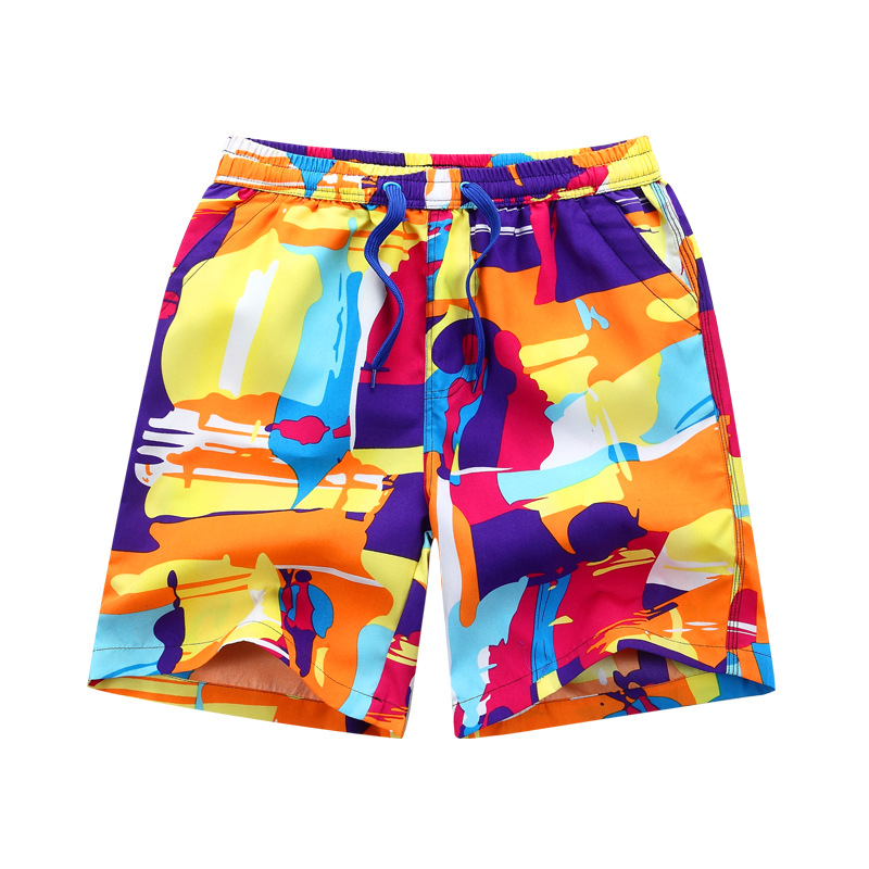 Summer MEN'S Beach Pants Casual Large Trunks Quick-Drying Booth Goods Large Boxers