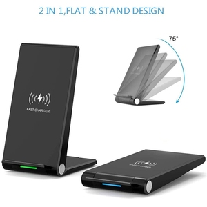 Image 3 - DCAE 15W Qi Wireless Charger Stand PadสำหรับiPhone 12 11 Pro X XS Max XR 8 10W fast Charging Dock StationสำหรับSamsung S20 S10 S9