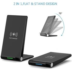 Image 3 - DCAE 15W Qi bezprzewodowa ładowarka stojak Pad dla iPhone 12 11 Pro X XS Max XR 8 10W szybka stacja dokująca do Samsung S20 S10 S9