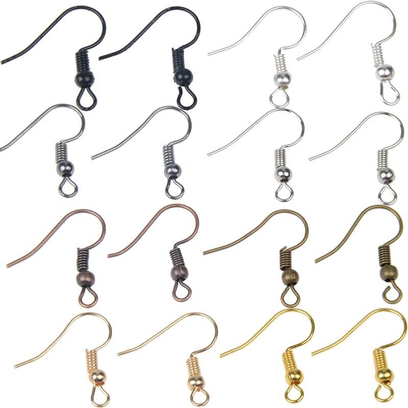 100pcs 19x18mm DIY Earring Jewelry Findings Earrings Clasps Hooks Fittings DIY Jewelry Making Accessories Hooks Earwire