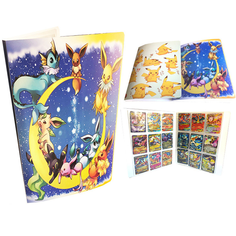 Large Capacity Cards Album Book For Pokemon Top Loaded List Playing Cards Holder Album Pokemon Toys For 324 Cards Novel