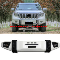 Car Styling 1pcs For Toyota Land Cruiser Prado FJ150 2014 2017 Metal Front Bumper Anti collision Protection Kit