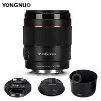 Yongnuo-lente yn85mm f1.8s df dsm de abertura grande af mf 85mm f1.8, lente de foco automático para câmera sony e-mount full frame