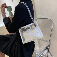 Torebki damskie 2020 nowe przezroczyste designerskie torebki damskie torebki na ramię Pokemon summer żelki Mini torebki i torebki tanie tanio Na co dzień torebka Torby na ramię Na ramię i torby crossbody Hasp SOFT Solidna torba Moda B-2895 Poliester Wszechstronny