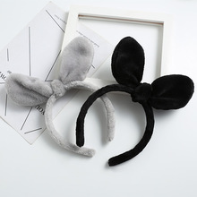 Cute plush knotted rabbit ears hairband Headwear childrens Hair bands jewelry Korean girls sweet Headband ornaments