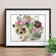 5D DIY Diamond Painting Hedgehog Diamond Mosaic Animal Picture Of Rhinestones Diamond Embroidery Cross Stitch Home Decor