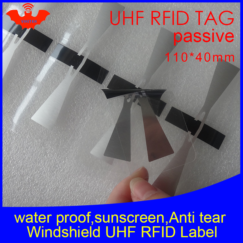 RFID Tag UHF Sticker Vehicle Windshield EPC 6C 915m868m860-960M M4QT Waterproof Sunscreen Anti-tear Adhensive Passive RFID Label