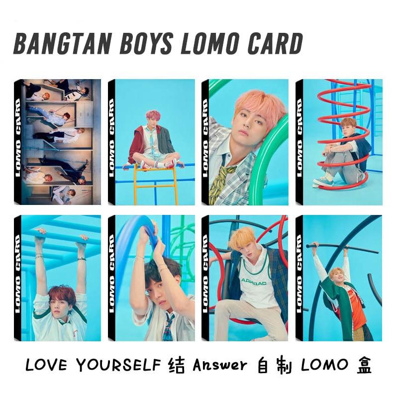 30pcs/set Kpop Bangtan Boys Photocard Love Yourself Answer Album High Quality HD Photo Card Bangtan Boys Kpop Stationery Set