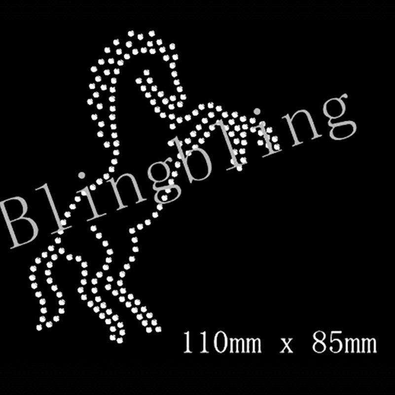 Rearing Horse Crystal transfer Iron On Rhinestone Diamante t shirt MOTIF DESIGN