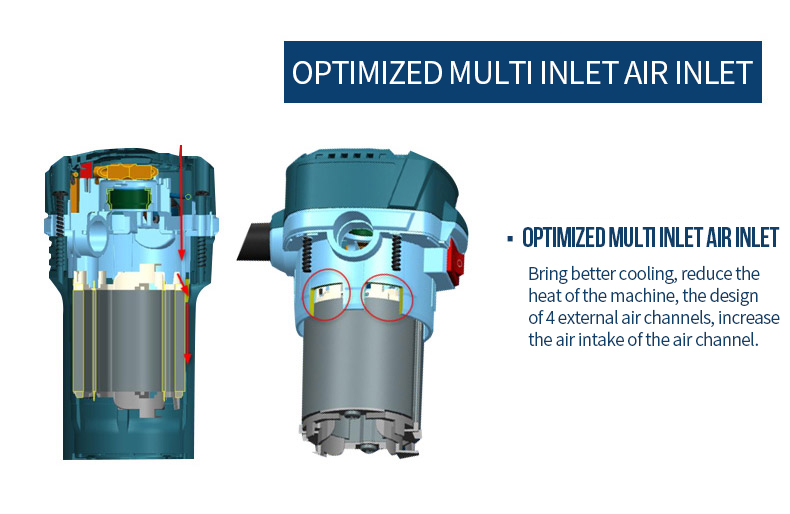 optimized multi inlet air inlet