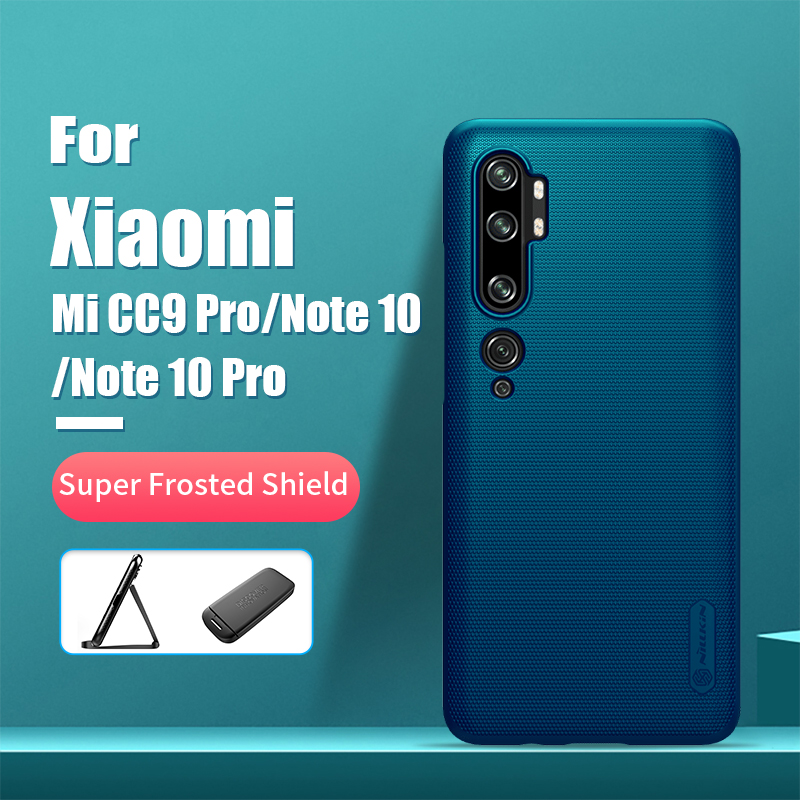 For xiaomi mi note 10 case NILLKIN Frosted PC Matte hard back cover Gift Phone Holder for xiaomi mi cc9 pro case Mi Note 10 Pro Mobile Phone LCD Screens Cellphones & Telecommunications - title=