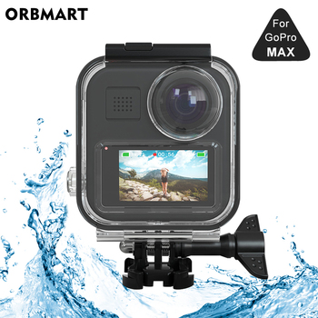цена на Touchscreen Waterproof Housing Case for GoPro MAX 360 Diving Protective Underwater Dive Cover for Go Pro Max Camera Accessories