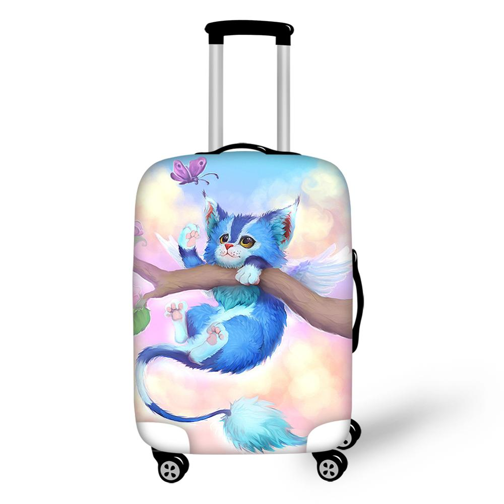 HaoYun Water-proof Suitcase Cover Kawaii Cats Animal Elastic Dust-proof Luggage Cover Luggage Protective Accessories Only Cover