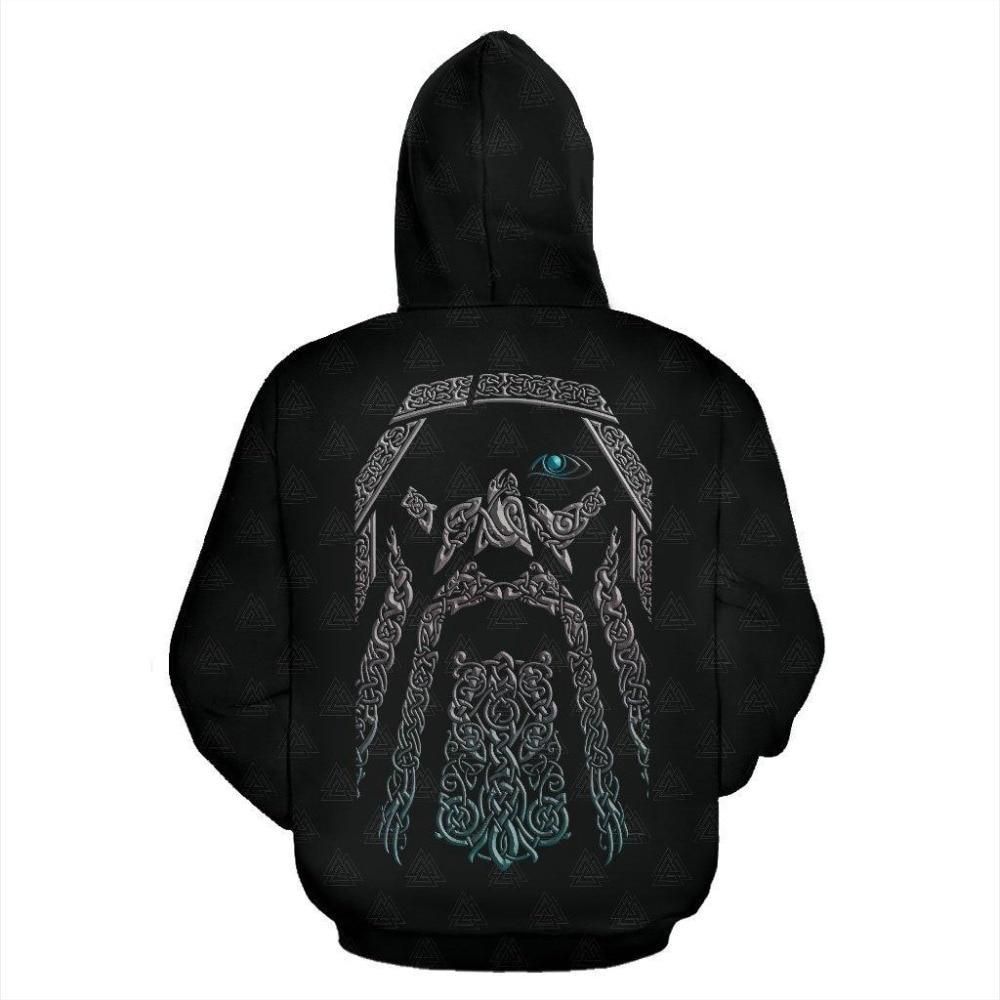 Odin (Wutan) - Valhalla Zip-Up Hoodie1