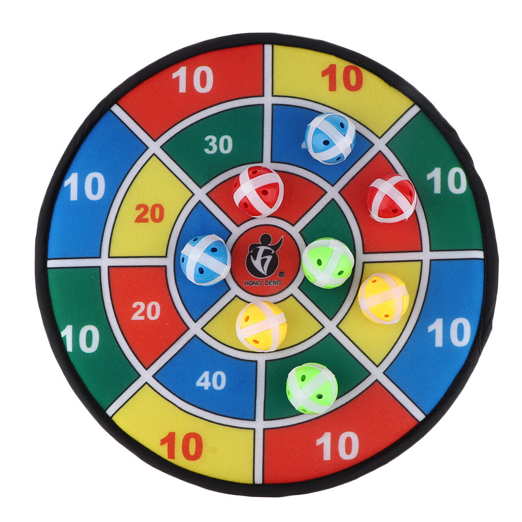 Kids Safe Dart Game Fabric Dart Board With 8 Sticky Balls Children Game Toy