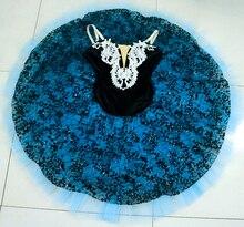 Blue Black professional ballet dance tutu costume for girls and women YAGP pancake tutus performance