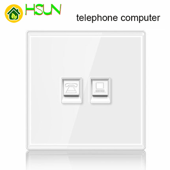 86 type White tempered glass reset toggle switch 1 2 3 4 gang 1 2 way retro hotel creative switch USB France Germany UK socket 14