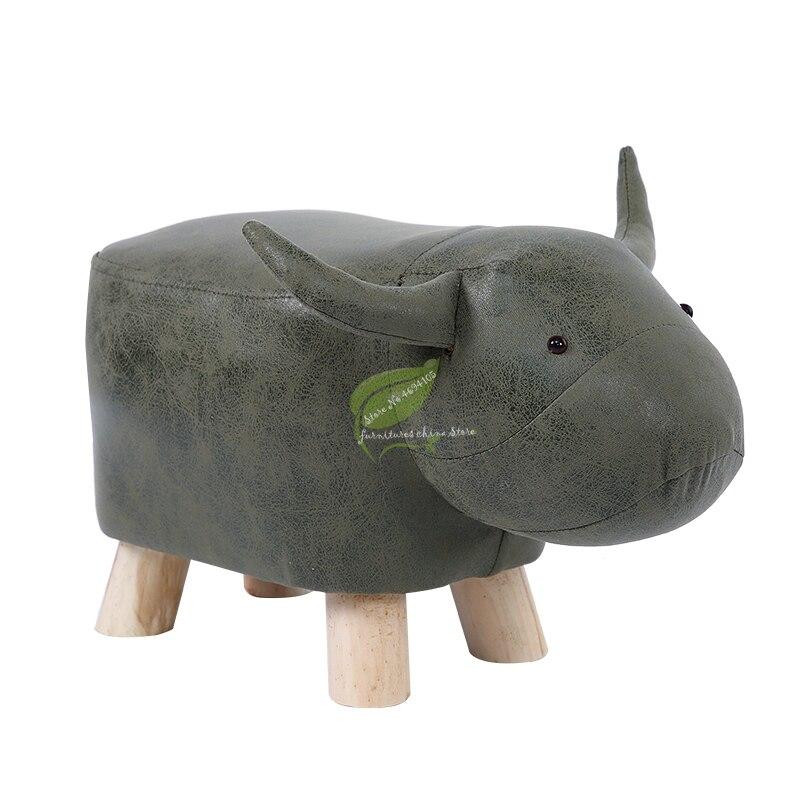 Creative Fashion Calf Stool Elephant Stool Hippo Bench Shoes Bench Stool Children Cartoon Solid Wood Animal Stool
