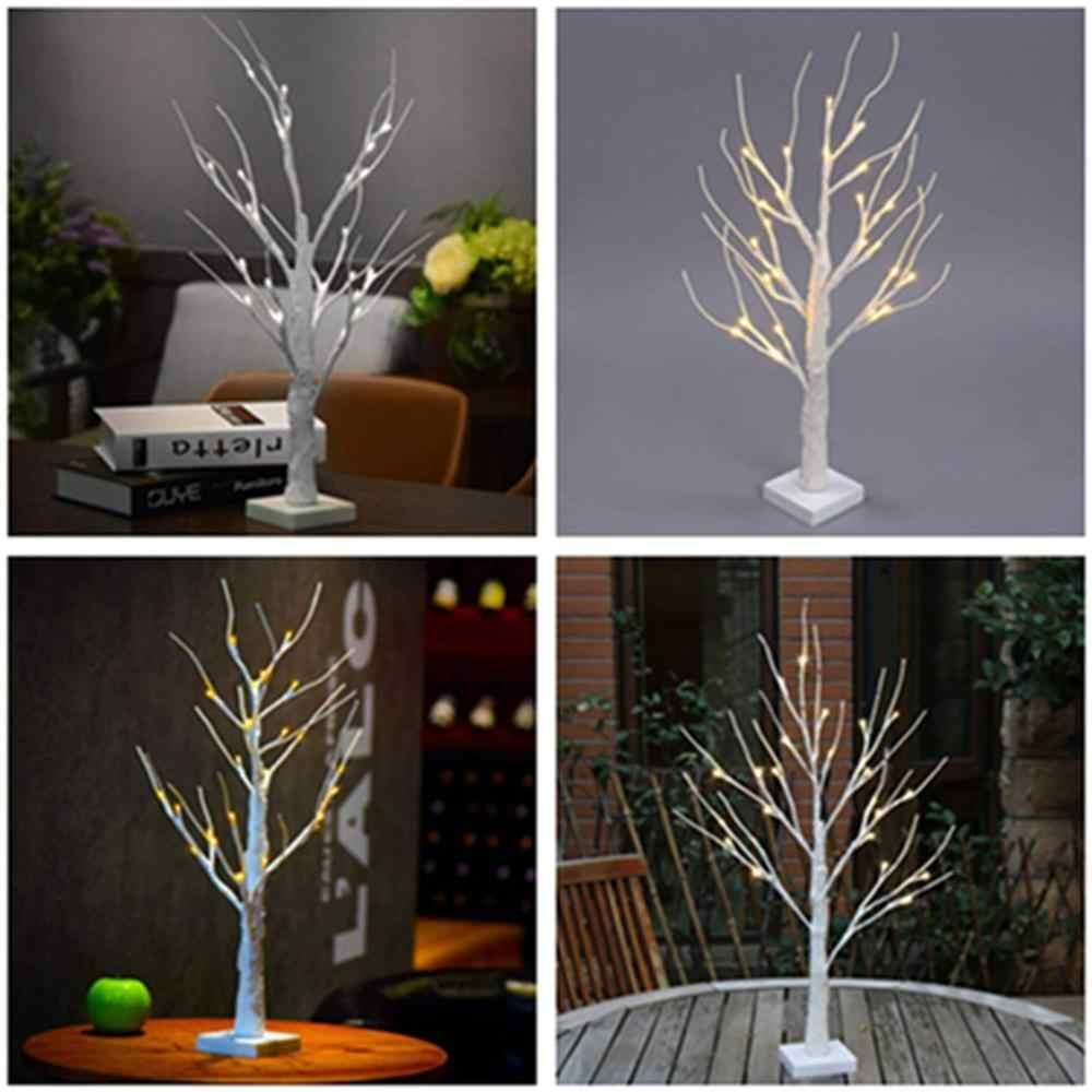 24LT חם לבן LED ליבנה עץ אור שולחן בונסאי עץ אור תכשיטי מחזיק דקור עבור בית המפלגה חתונת נופש