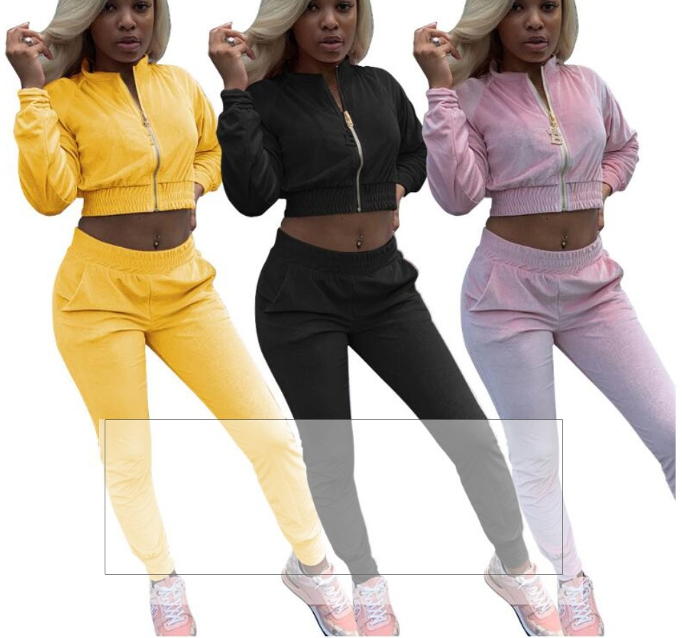 Sykooria Womens Velour Sweatsuit Set 2 Piece Tracksuits Pullover Sport Suits Long Sleeve Outfits