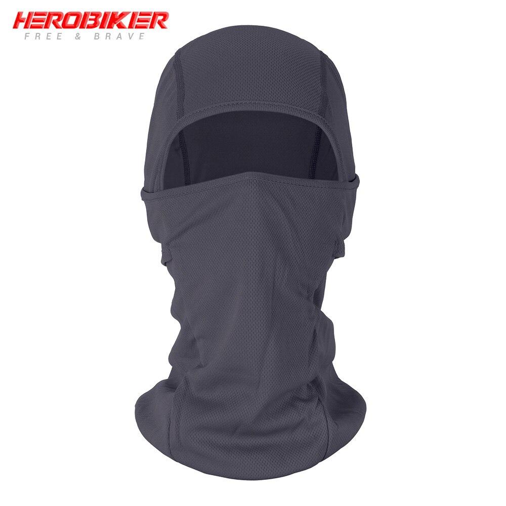 HEROBIKER мотоциклетная Балаклава маска для лица мото теплая ветрозащитная дышащая страйкбольная Пейнтбольная велосипедная Лыжная маска для лица мужской солнцезащитный шлем - Цвет: BE-02