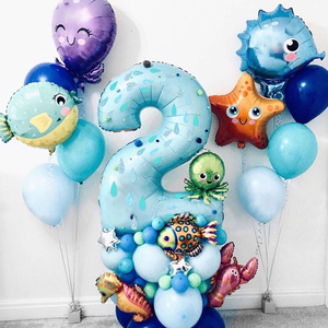 1pc Under Sea Animal Balloon Cute Crab/Starfish/Octopus Balloons Sea Party Theme Kid Happy Birthday Decor Baby Shower Supplies