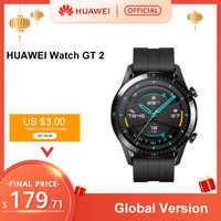 En existencia reloj HUAWEI versión Global GT 2 GT2 GPS 14 días de funcionamiento teléfono inteligente llamada Rastreador de ritmo cardíaco para Android iOS
