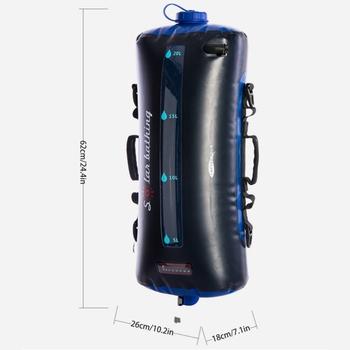 20L prysznic kempingowy przenośny prysznic na kemping prysznic na zewnątrz w stopka dociskowa pompa zewnętrzna prysznic Camping tanie i dobre opinie OOTDTY CN (pochodzenie) 62X26X18CM