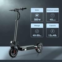 Iscooter-patinete eléctrico plegable para adultos, Scooter todoterreno con batería de Motor potente IX4, 48V, 13Ah, máximo 45 km/h, actualización de neumáticos de 500W