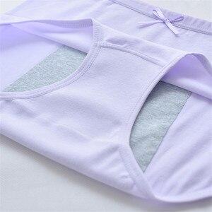 Image 4 - Female Leak Proof Menstrual Panties Physiological  Women Underwear Period Warm Cotton Waterproof  Briefs Culotte Menstruelle