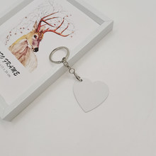 Sublimation Aluminum Heart - Shaped Key Chain Heat Transfer Blank DIY Custom Supplies Double-Sided Printing 20pieces/Lot
