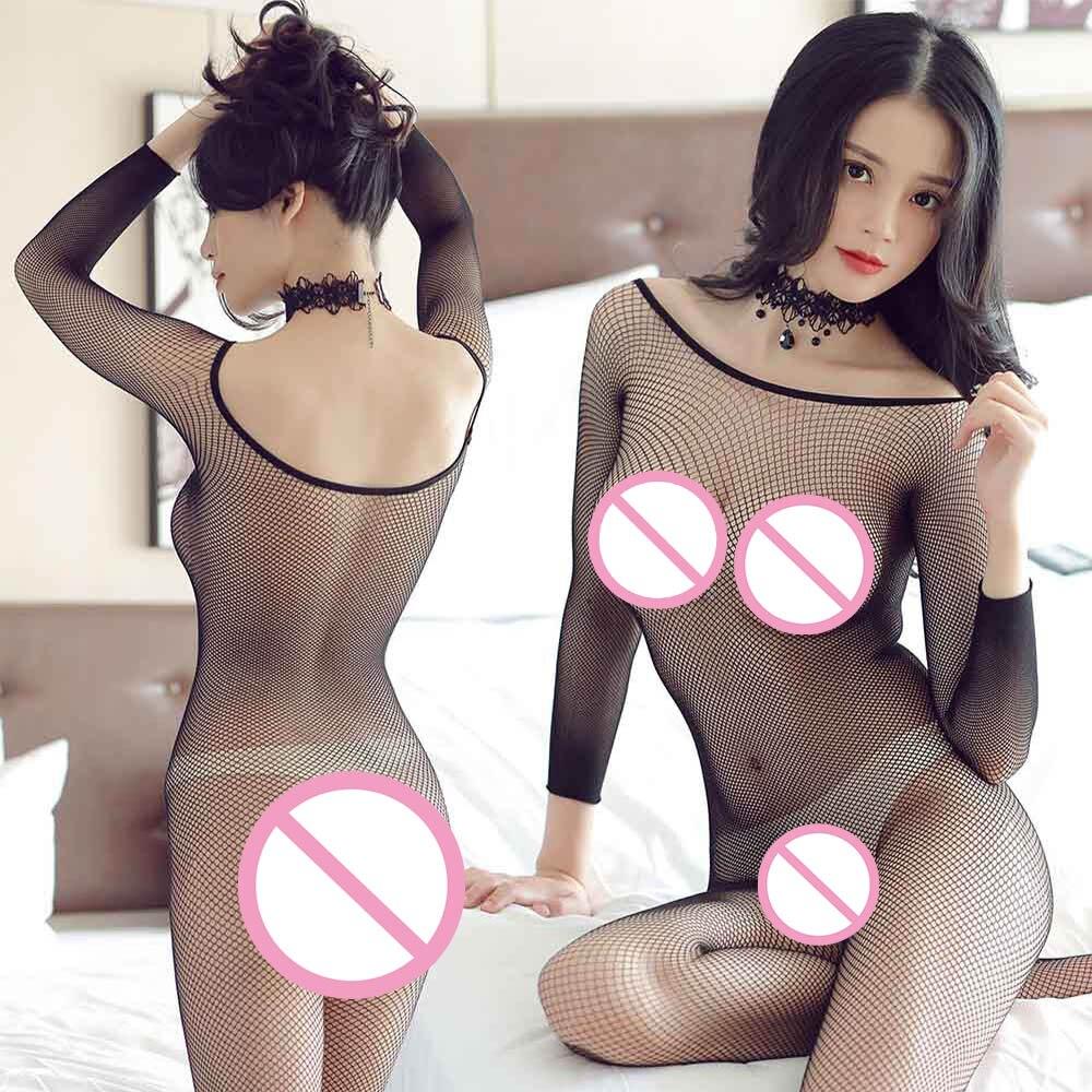 Kabaretki Teddy body Catsuit seksowna bielizna kobiety egzotyczne otwarte krocza Bodystockings Babydoll Intimates Mesh Sexy bodystocking
