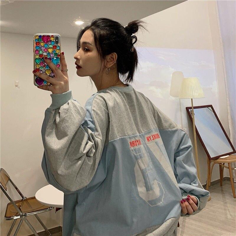 Новинка 2021, тонкий пуловер, женский свободный пуловер в Корейском стиле, топы с длинным рукавом и круглым вырезом, свитшоты, женские топы