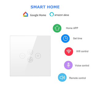 Image 2 - AVATTO Smart Wifi Fan Light Switch,EU/US Ceiling Fan Lamp Switch Tuya Remote Various Speed Control Work with Alexa, Google Home