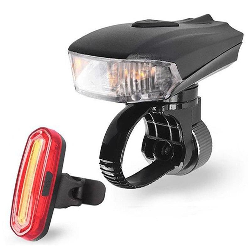 400 Lumen Smart Road Bike Front Light USB Induction Flashlight For Bicycle MTB Bike Rear LED Lights Kit