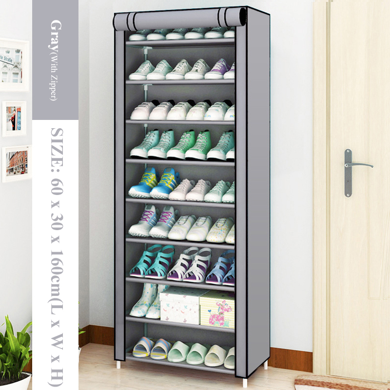 Multilayer Shoe Cabinet Dustproof Shoes Storage Closet large Space-saving Assemble Organizer Holder Shoe Rack for Home Furniture