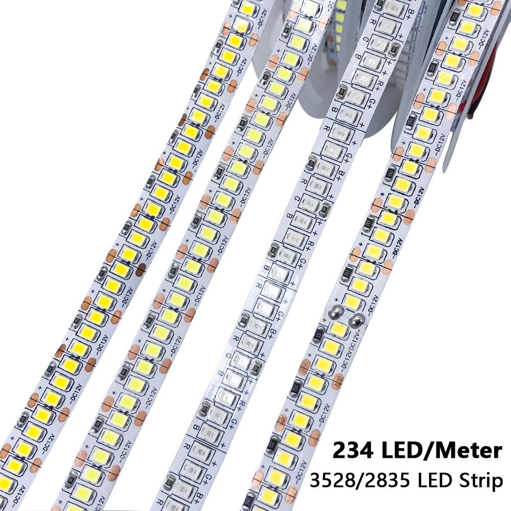 DC 24V 2835 120Leds 240Leds PC LED Strip Tape Warm White LED Strip Light DC 24V 5M Rope Home Decor Flexible TV Backlight