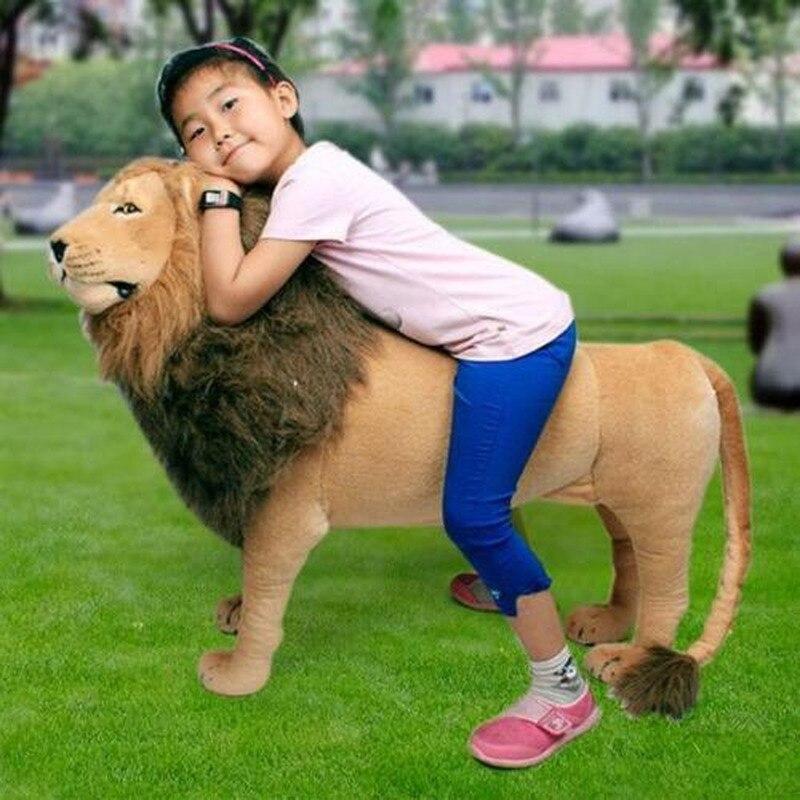 40 riesen Lebensechte Lion Plüsch Spielzeug Puppe Plüsch Fahrt Auf Gefüllte Weihnachts Geschenke NEUE Stich Plüsch Spielzeug - 2