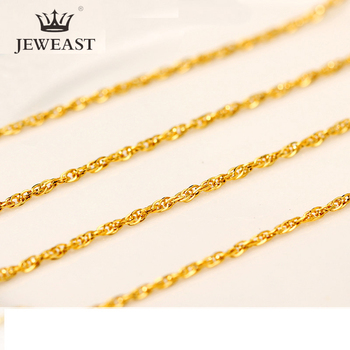 QA 24K Pure Gold Necklace Real AU 999 Solid Gold Chain Brightly Simple Upscale Trendy Classic  Fine Jewelry Hot Sell New 2020 1