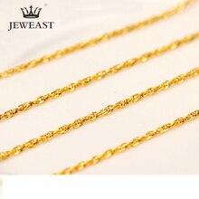 QA collar de oro puro de 24K para mujer, cadena de oro sólido Real AU 999, joyería clásica bonito de lujo Simple brillante, producto en oferta, novedad de 2020