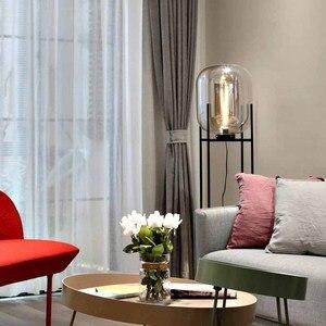 Image 2 - Luz de chão retrô nórdica, iluminação para sala de estar, luminárias para decoração da casa, iluminação de vidro de ferro, lâmpadas para o quarto