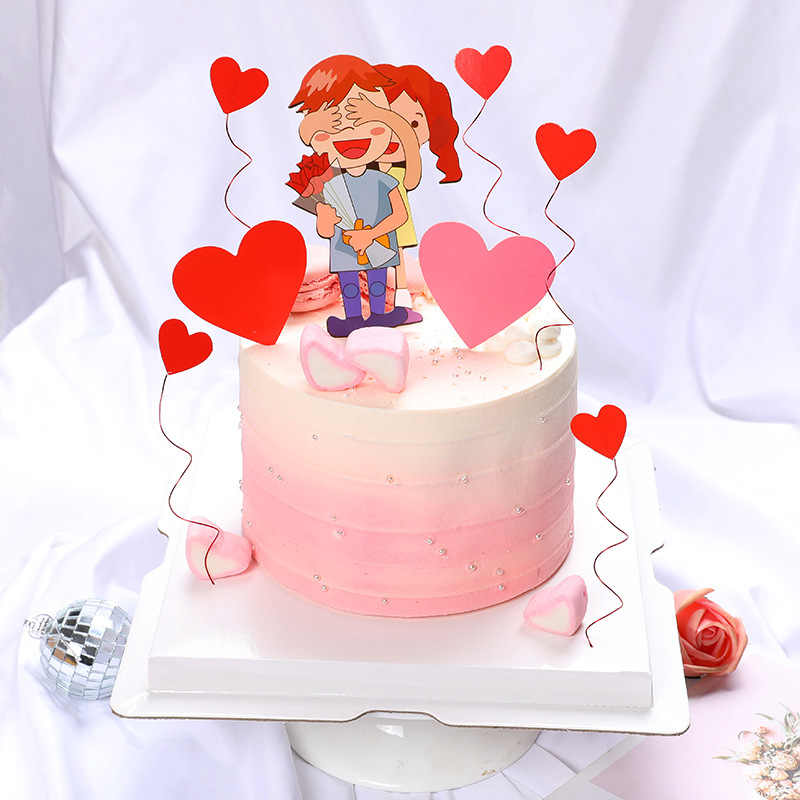 Brilliant Valentine S Day Couples Cake Topper Set For Girlfriend Lovers Funny Birthday Cards Online Inifofree Goldxyz