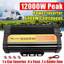 Dual USB Max 12000 Watts 6000W Power Inverter DC 12 V to AC 110 Volt Car Adapter Charge Converter Modified Sine Wave Transformer