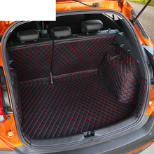 Lsrtw2017 Leather Car Trunk Mat Cargo Liner for Nissan Kicks 2015 2016 2017 2018 2019 2020 Rug Carpet Interior Accessories auto