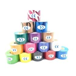 100rolls Spier Tape 5cm x 5m Tape Kinesiologie Tape Katoen Elastische Lijm Spier Bandage Care Physio Strain letsel Ondersteuning