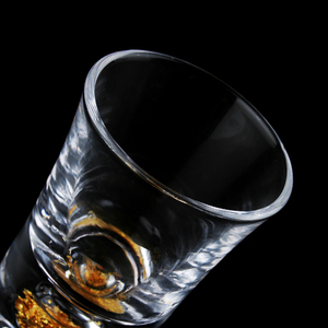 Image 5 - 2PCS Mug Crystal Cup Shot Glass Cup Creative High Spirits White Wine Glass Cup Glasses Party Drinking Creative Gold Bottom Cup