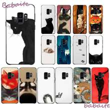 Babaite Not Cartoon Art Cat Dogs DIY Painted Phone Case for Samsung GALAXY S10 20 PLUS S10E LITE S10-5G M20 30 J2 PRIME Mobile(China)