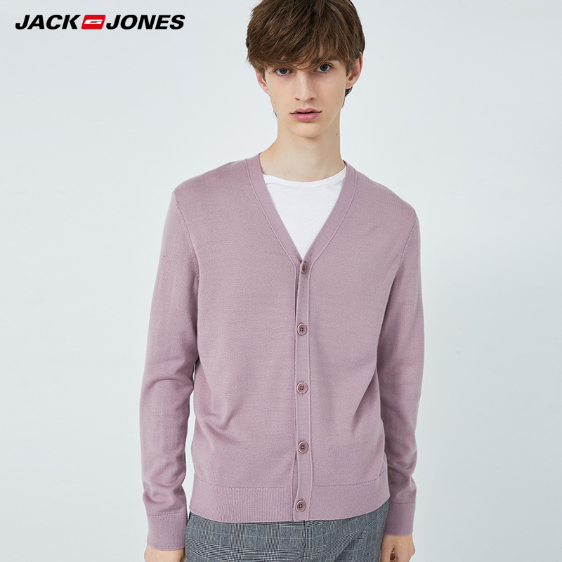 JackJones Winter Mens V-neckline Long-sleeved Wool-blend Cardigan Knit| 219424502