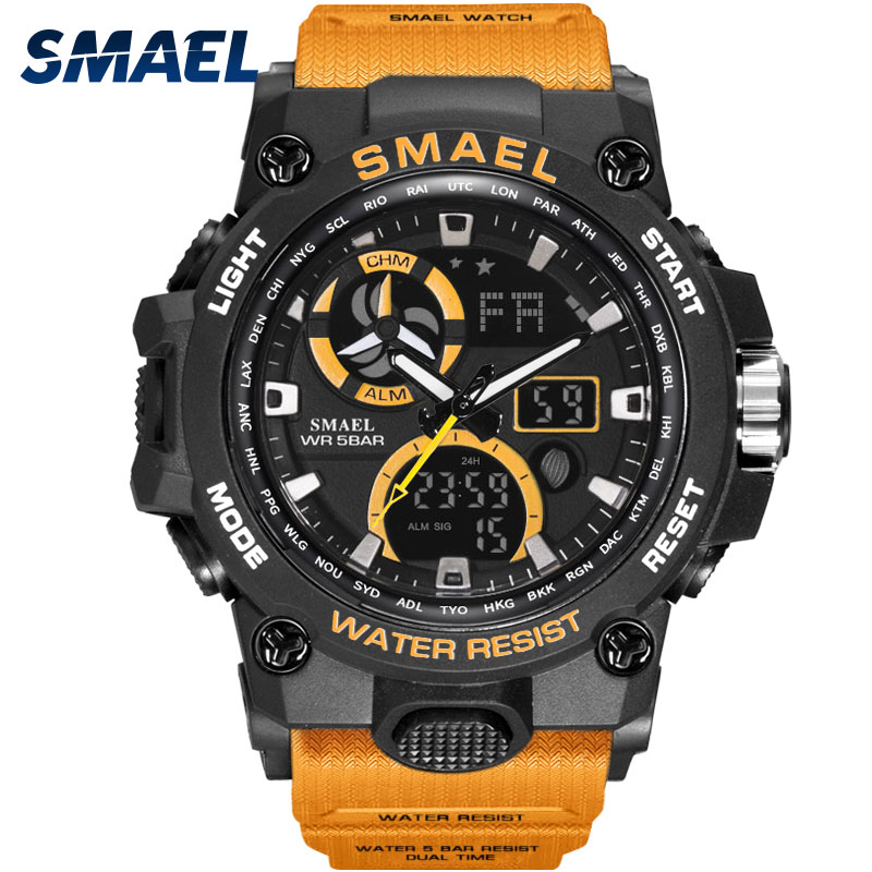 Sport Watch Men SMAEL Brand Toy Mens Watches Military Army S Shock 50m Waterproof Wristwatches 8011 Fashion Men Watches Sport