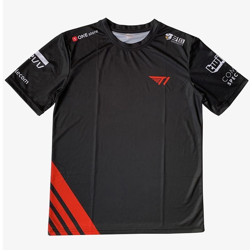 Top Quality SKT T1 2020 Jerseys Customized Name Tshirt Faker Fans Jersey Men Women T Shirts Custom ID Tee Shirt Homme